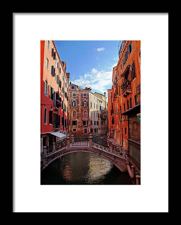Arch Framed Print featuring the photograph Small Canals In Venice Italy by Totororo