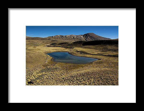 Tranquility Framed Print featuring the photograph Small Lagoon In Condoriri National Park by © Santiago Urquijo