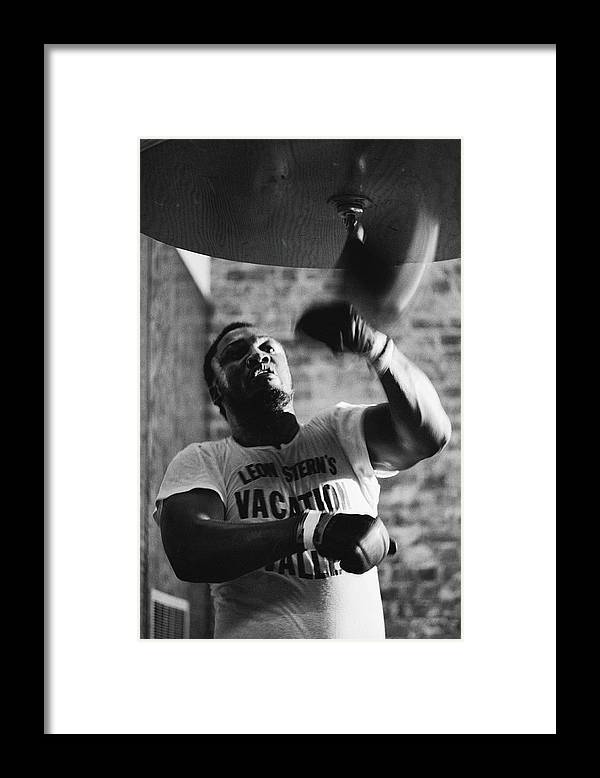 Joe Frazier Framed Print featuring the photograph Smokin Joe In Training by John Shearer