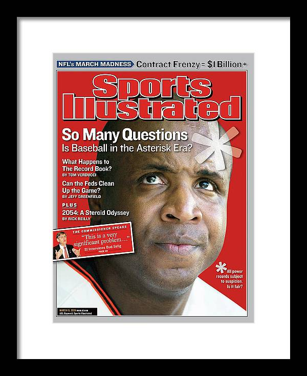 Magazine Cover Framed Print featuring the photograph So Many Questions Is Baseball In The Asterisk Era What Sports Illustrated Cover by Sports Illustrated
