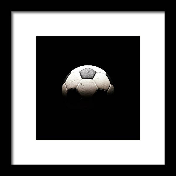 Shadow Framed Print featuring the photograph Soccer Ball In Shadows by Thomas Northcut
