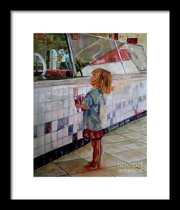 Soda Framed Print featuring the painting Soda Girl by CJ Rider