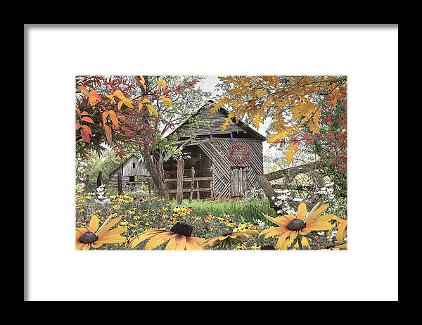 Barn Framed Print featuring the photograph Soft Country Colors by Debra and Dave Vanderlaan
