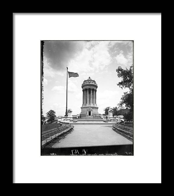 1910-1919 Framed Print featuring the photograph Soldiers And Sailors Monument by The New York Historical Society