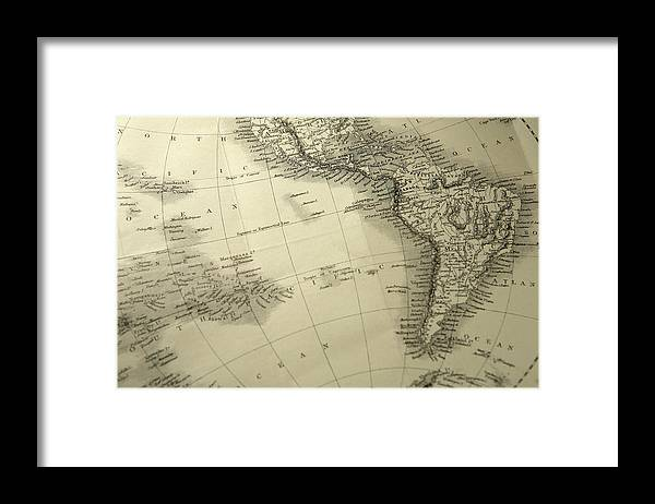 Amazon Rainforest Framed Print featuring the photograph South America by Belterz