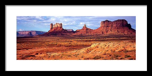 Scenics Framed Print featuring the photograph Southwest Scenery by Vittorio Ricci - Italy