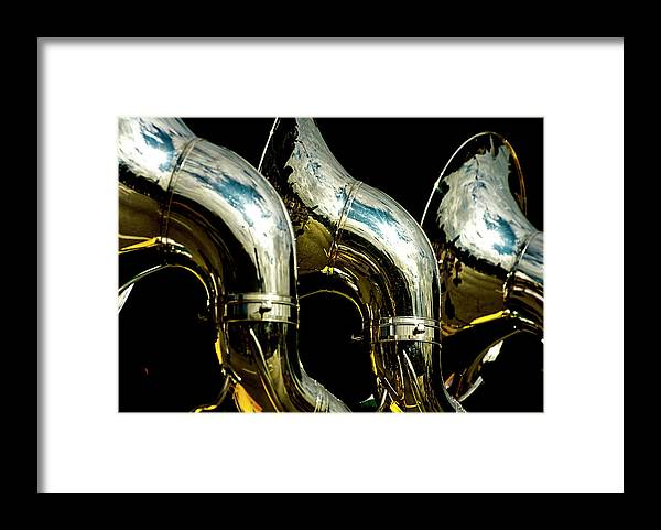 Music Framed Print featuring the photograph Souzaphones On Parade by By Ken Ilio