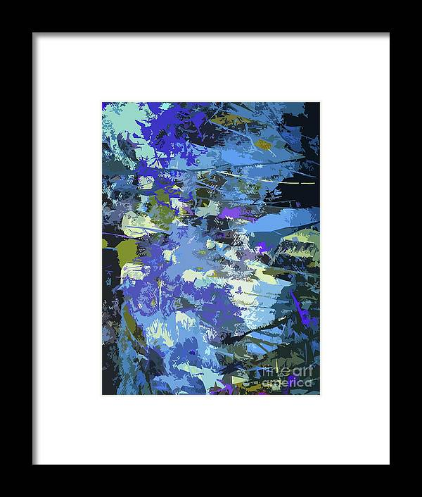 Abstract Art Framed Print featuring the digital art Space And Time by Karen Elzinga