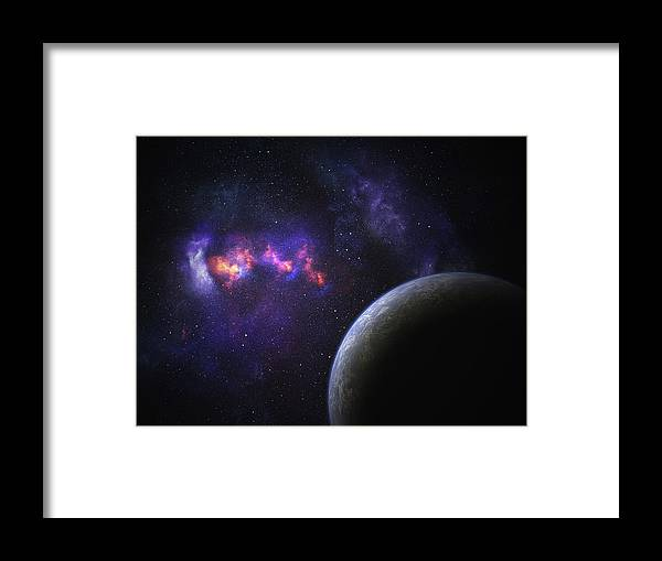 Orange Color Framed Print featuring the photograph Space Planet by Sololos