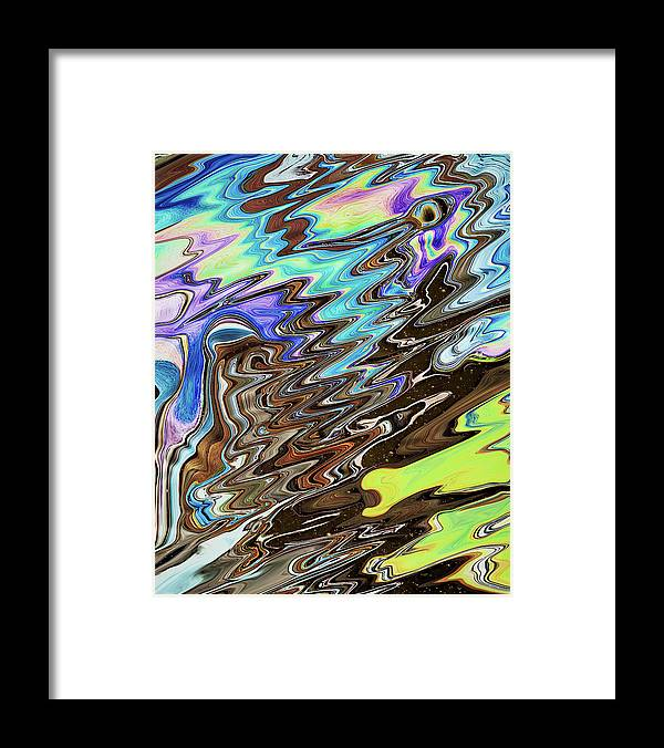 Abstract Framed Print featuring the digital art Space-Time Continuum by Jack Entropy