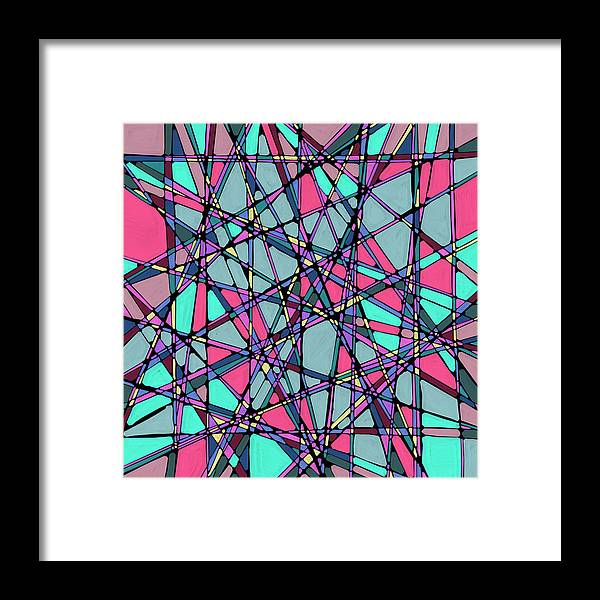 Nonobjective Framed Print featuring the digital art Spaces We Inhabit #010 by James Fryer