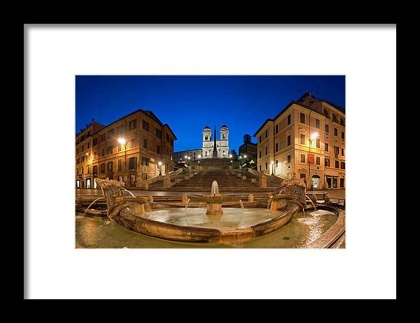 Steps Framed Print featuring the photograph Spanish Steps Piazza Di Spagna Fontana by Fotovoyager