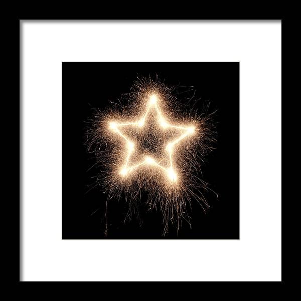 Holiday Framed Print featuring the photograph Sparkling Star by Amriphoto