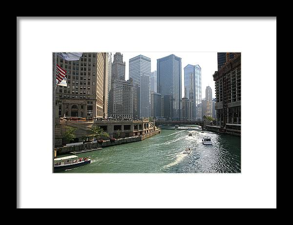 Downtown District Framed Print featuring the photograph Spectacular Chicago Downtown by Ekash