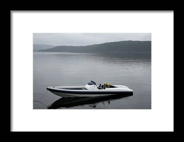 Outdoors Framed Print featuring the photograph Speedboat, Side View by Vegar Abelsnes Photography