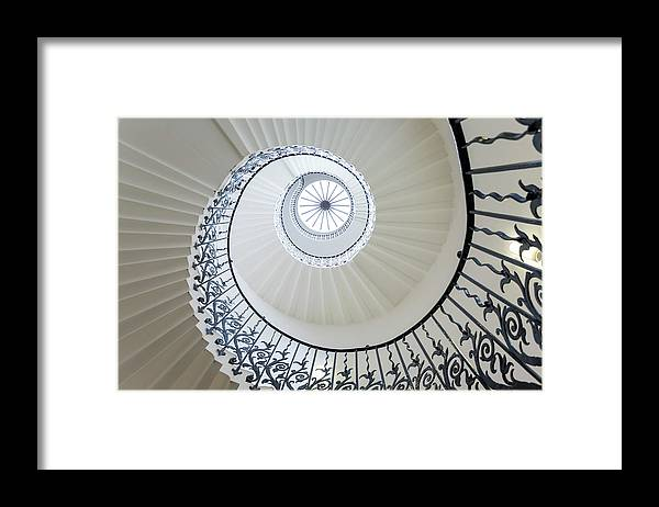 Queen's House Framed Print featuring the photograph Spiral Staircase, The Queens House by Peter Adams