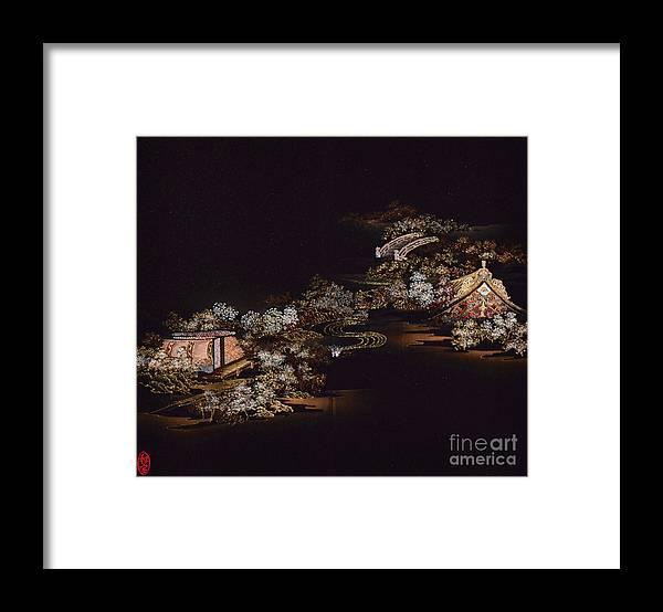 Framed Print featuring the digital art Spirit of Japan H25 by Miho Kanamori