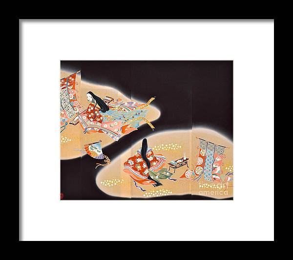 Framed Print featuring the digital art Spirit of Japan T16 by Miho Kanamori