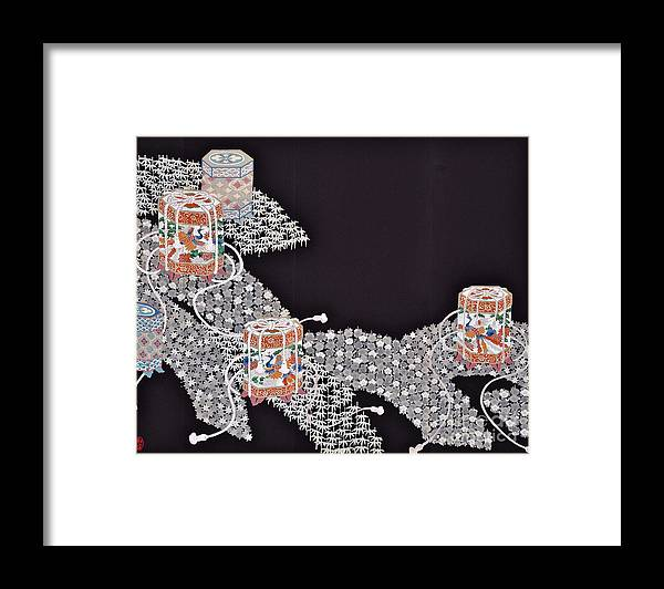 Framed Print featuring the digital art Spirit of Japan T34 by Miho Kanamori