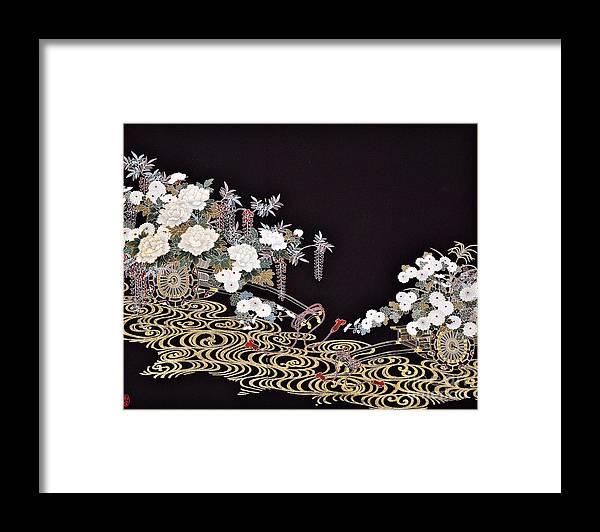 Framed Print featuring the digital art Spirit of Japan T40 by Miho Kanamori
