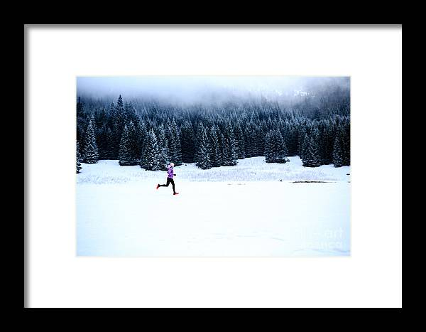 Country Framed Print featuring the photograph Sport, Fitness Inspiration And by Blazej Lyjak