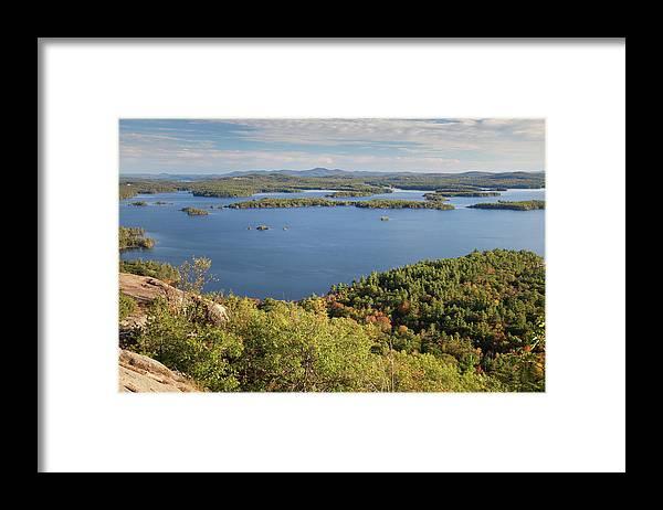 Scenics Framed Print featuring the photograph Squam Lake, New Hampshire by Denisebush