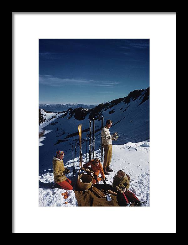 People Framed Print featuring the photograph Squaw Valley Picnic by Slim Aarons