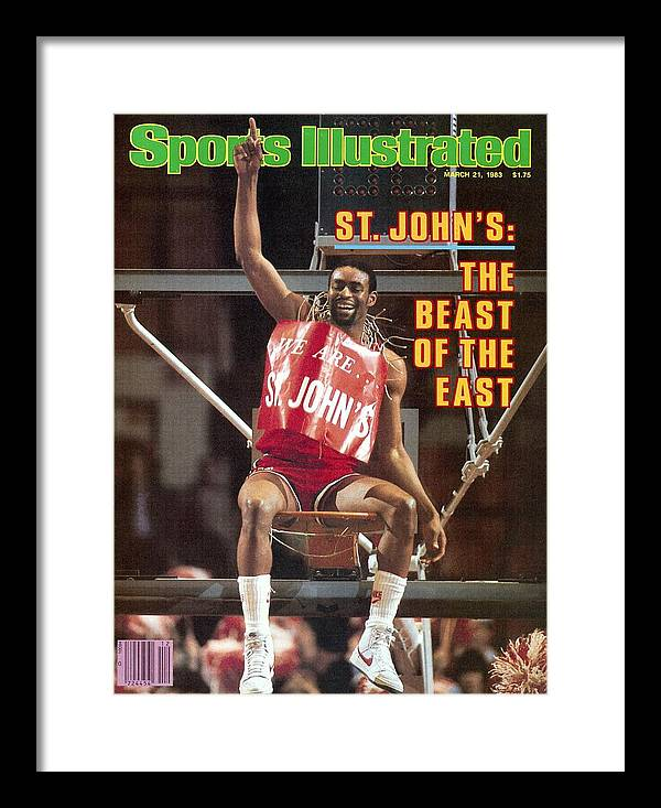 East Framed Print featuring the photograph St. Johns University Billy Goodwin, 1983 Big East Tournament Sports Illustrated Cover by Sports Illustrated