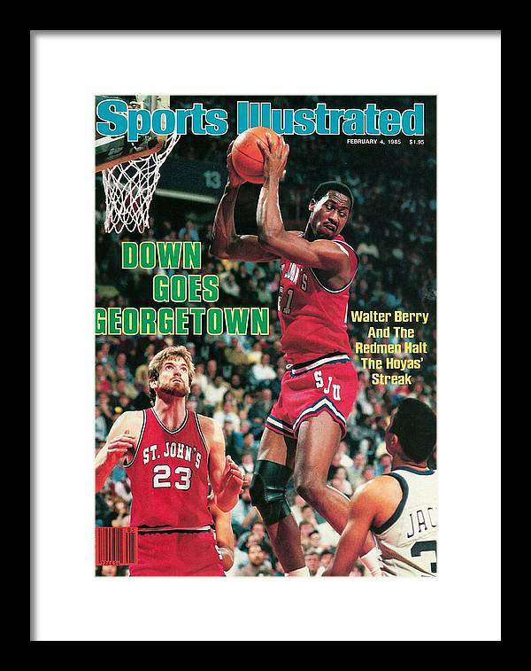 Magazine Cover Framed Print featuring the photograph St. Johns University Walter Berry Sports Illustrated Cover by Sports Illustrated