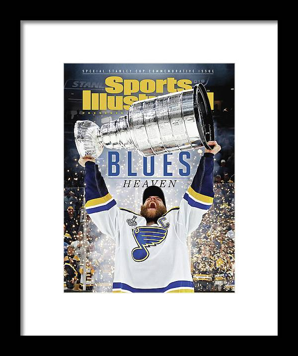 Playoffs Framed Print featuring the photograph St. Louis Blues, 2019 Nhl Stanley Cup Champions Sports Illustrated Cover by Sports Illustrated