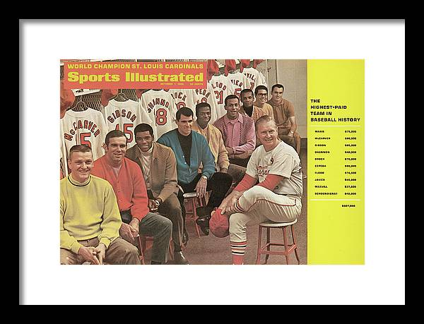 St. Louis Cardinals Framed Print featuring the photograph St. Louis Cardinals, 1968 World Series Champions Sports Illustrated Cover by Sports Illustrated