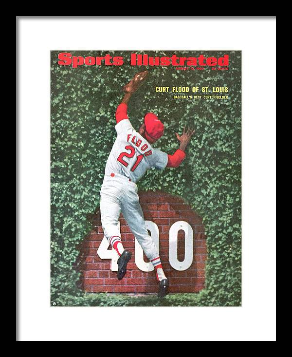 St. Louis Cardinals Framed Print featuring the photograph St. Louis Cardinals Curt Flood Sports Illustrated Cover by Sports Illustrated