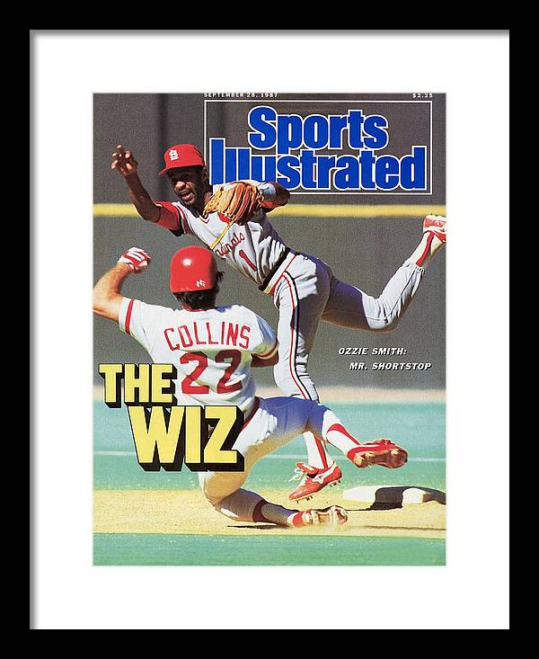 St. Louis Cardinals Framed Print featuring the photograph St Louis Cardinals Ozzie Smith... Sports Illustrated Cover by Sports Illustrated