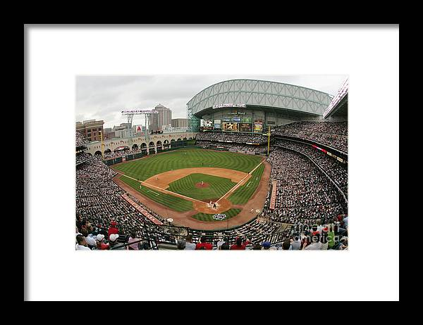 Minute Maid Park Framed Print featuring the photograph St. Louis Cardinals V Houston Astros by Ronald Martinez