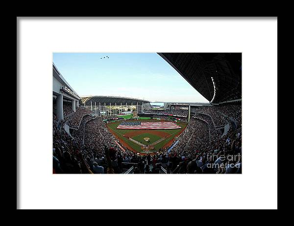 Viewpoint Framed Print featuring the photograph St Louis Cardinals V Miami Marlins by Sarah Crabill
