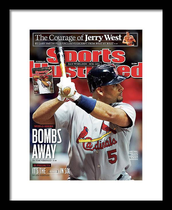 St. Louis Cardinals Framed Print featuring the photograph St Louis Cardinals V Milwaukee Brewers - Game 6 Sports Illustrated Cover by Sports Illustrated