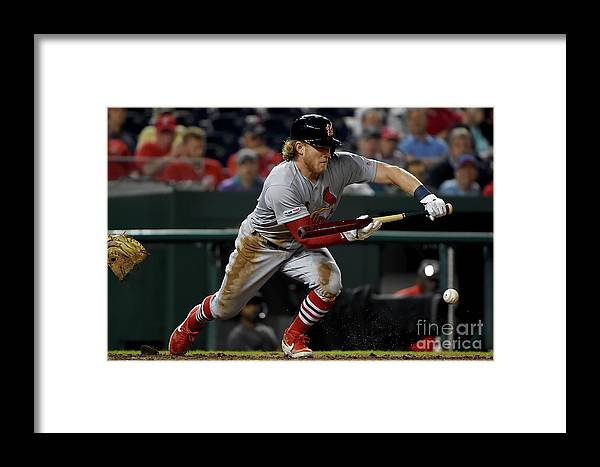 St. Louis Cardinals Framed Print featuring the photograph St Louis Cardinals V Washington by Will Newton