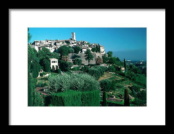 1980-1989 Framed Print featuring the photograph St. Paul De Vence by Slim Aarons