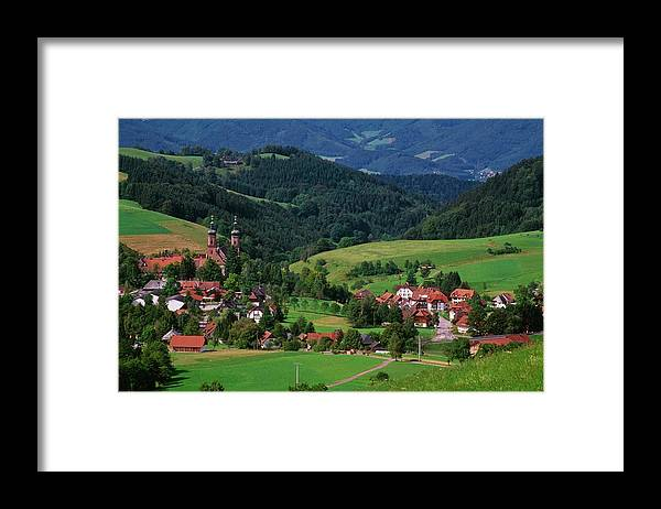 Architectural Feature Framed Print featuring the photograph St. Peters Abbey, Black Forest, Germany by Bilderbuch  / Design Pics