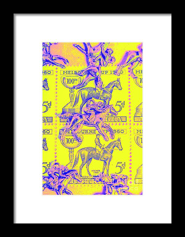 Retro Framed Print featuring the photograph Stamps And Stallions by Jorgo Photography - Wall Art Gallery
