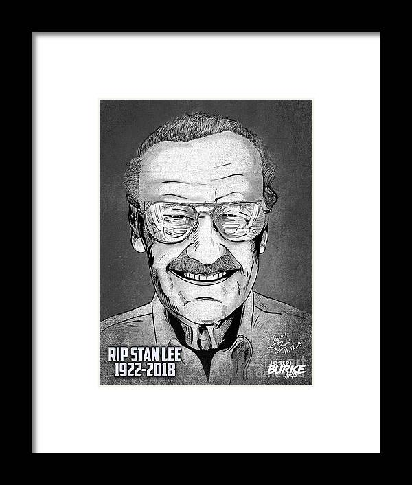 Stan Lee Framed Print featuring the digital art Stan Lee by Joseph Burke