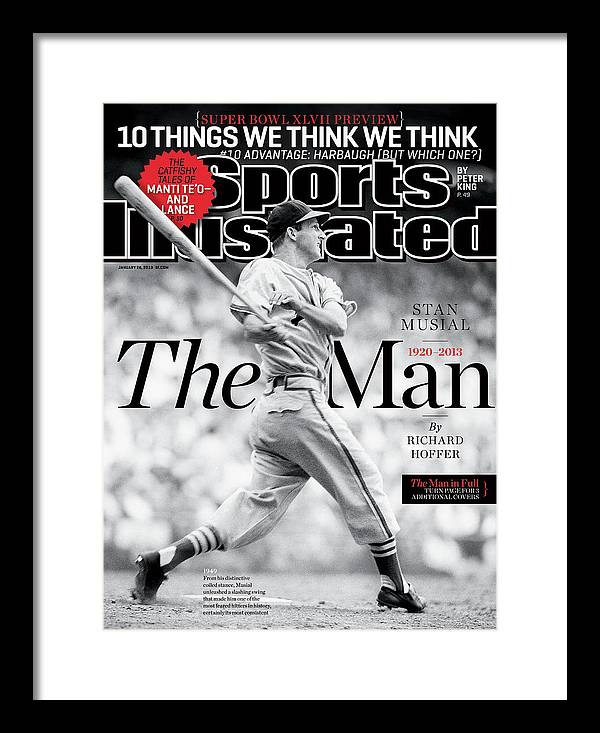 St. Louis Cardinals Framed Print featuring the photograph Stan Musial, The Man 1920 - 2013 Sports Illustrated Cover by Sports Illustrated