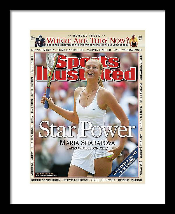 Magazine Cover Framed Print featuring the photograph Star Power Maria Sharapova Takes Wimbledon At 17 Sports Illustrated Cover by Sports Illustrated