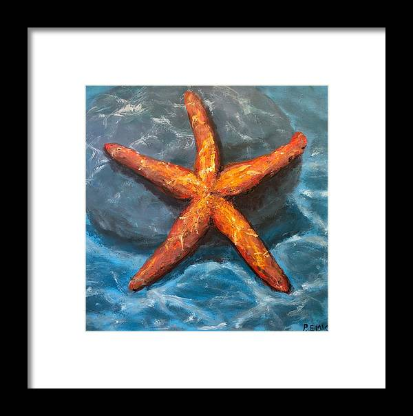 Starfish Framed Print featuring the painting Starfish by Paul Emig