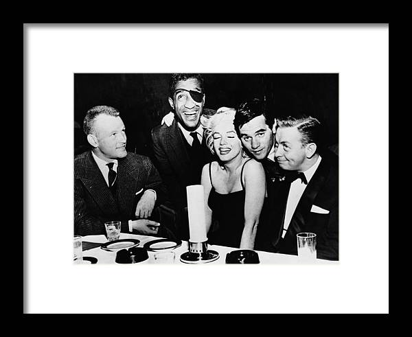 Singer Framed Print featuring the photograph Stars At The Crescendo Club by Archive Photos