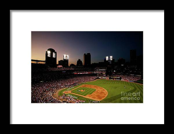 American League Baseball Framed Print featuring the photograph State Farm Home Run Derby by Dilip Vishwanat