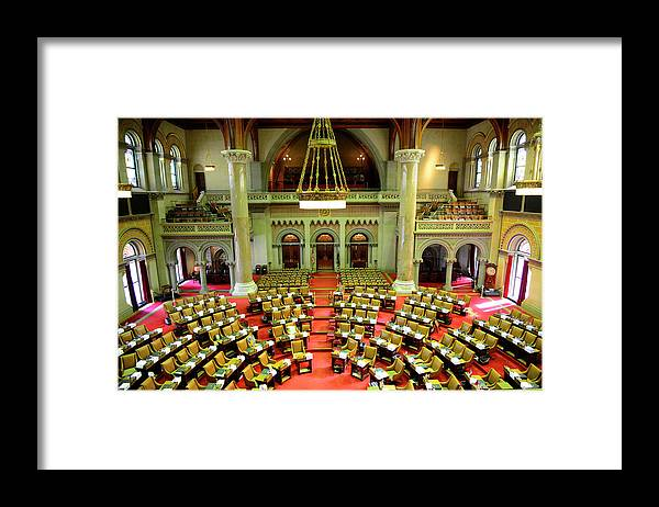 Arch Framed Print featuring the photograph State House Capitol Building, Albany by Dennis Macdonald