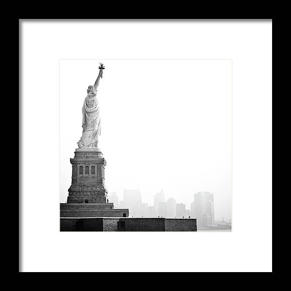 Statue Framed Print featuring the photograph Statue Of Liberty by Image - Natasha Maiolo