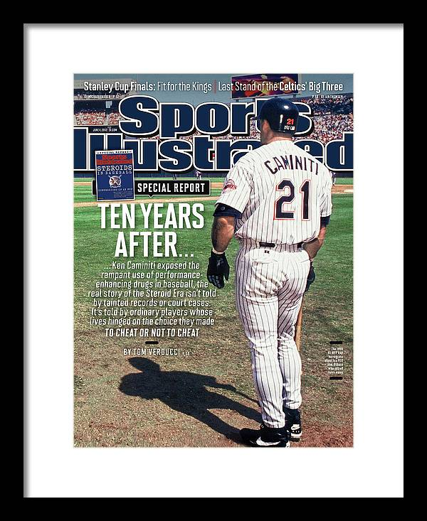 Magazine Cover Framed Print featuring the photograph Steroids In Baseball Special Report Ten Years After Sports Illustrated Cover by Sports Illustrated