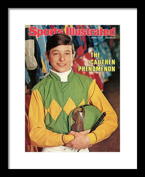 Horse Framed Print featuring the photograph Steve Cauthen, Horse Racing Jockey Sports Illustrated Cover by Sports Illustrated